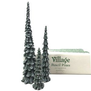 Department 56 Village Pencil Pines Tree Decor